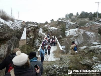 Villa de Pedraza y el Cañón del Río Cega; senderismo almeria rutas